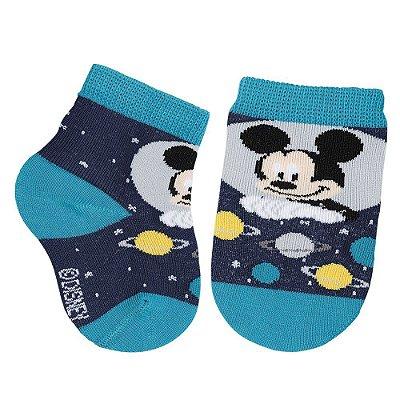 Meia Disney Baby Mickey - Azul - Lupo