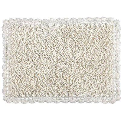 Tapete Croche Bolinhas 45 x 65cm - Cru - Kacyumara
