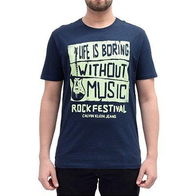 Camiseta Music Marinho - Calvin Klein