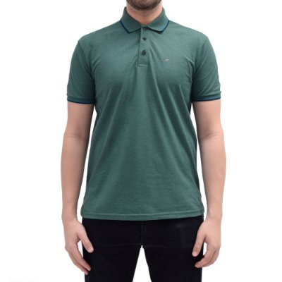 Camisa Polo Básica - Verde/Azul - Ellus