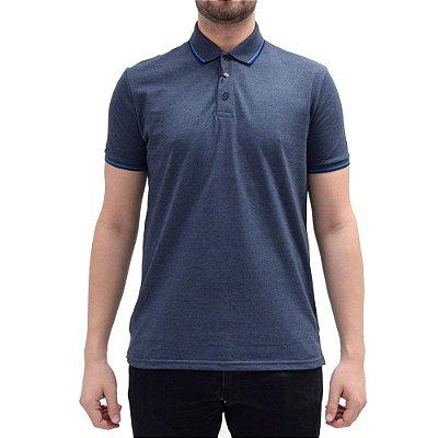 Camisa Polo Básica - Azul/Azul - Ellus