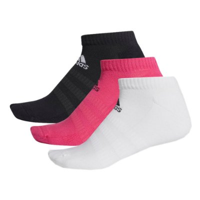 Kit Meia Cush Low - Rosa / Preta / Branca - Adidas