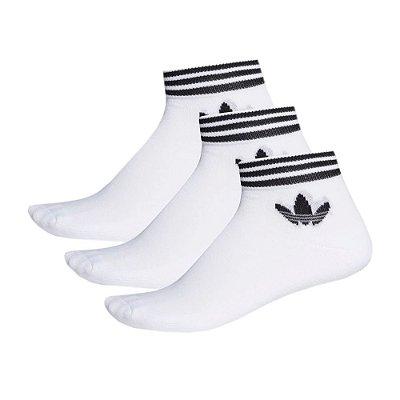 Kit Meia Trefoil Branca - 3 Pares - Adidas
