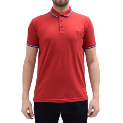 Camisa Polo Básica - Vermelha/Azul -  Ellus