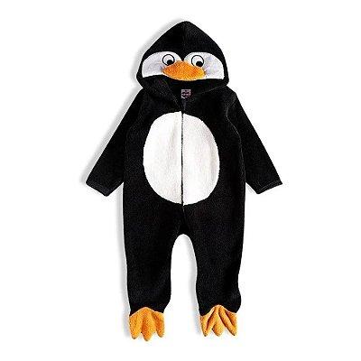 Macacão Pelúcia Com Touca - Pinguim - Tip Top