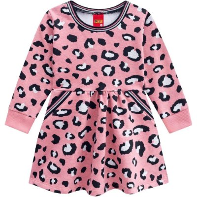 Vestido Baby Manga Longa Onça Rosa - Kyly