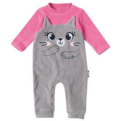 Macacão Baby Soft - Ursinho Rosa - Malwee