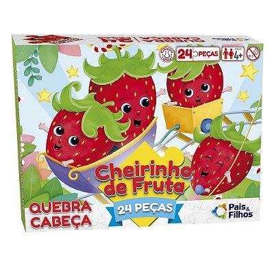 Quebra-Cabeça 24 Peças Cheirinho de Fruta - Morango - Pais & Filhos