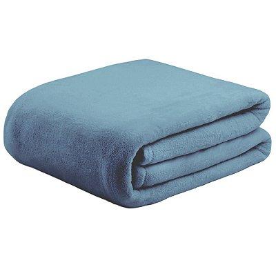 Cobertor Super Soft Liso Casal 300g/m² - Azul - Naturalle
