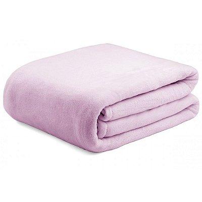 Cobertor Super Soft Liso Casal 300g/m² - Rosa - Naturalle