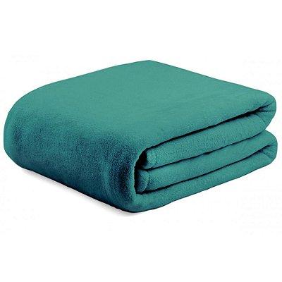 Cobertor Super Soft Liso Casal 300g/m²  - Esmeralda - Naturalle
