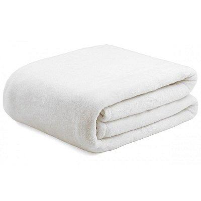 Cobertor Super Soft Liso Solteiro 300g/m² - Off White - Naturalle