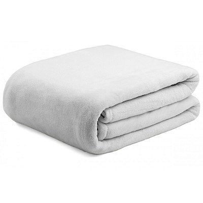 Cobertor Super Soft Liso Solteiro 300g/m² - Cinza Claro - Naturalle