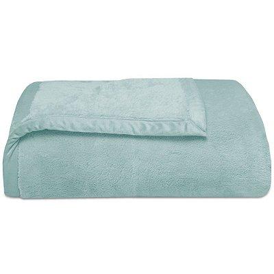 Cobertor Soft Premium Liso Casal 480g/m² - Acqua - Naturalle