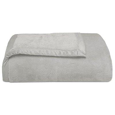 Cobertor Super Soft Liso Queen 340g/m² - Cinza Claro - Naturalle