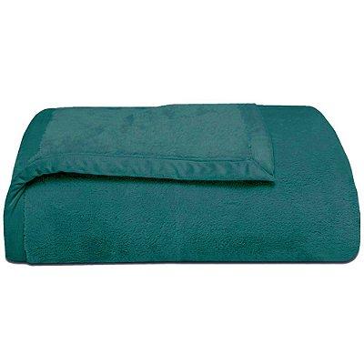 Cobertor Super Soft Liso Queen 340g/m² - Esmeralda - Naturalle