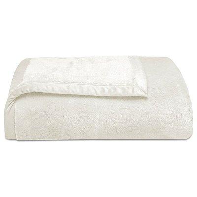 Cobertor Super Soft Liso Queen 340g/m² - Creme - Naturalle