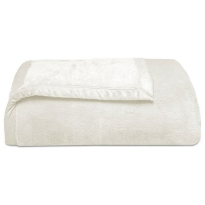 Cobertor Super Soft Liso King 340g/m² - Creme - Naturalle
