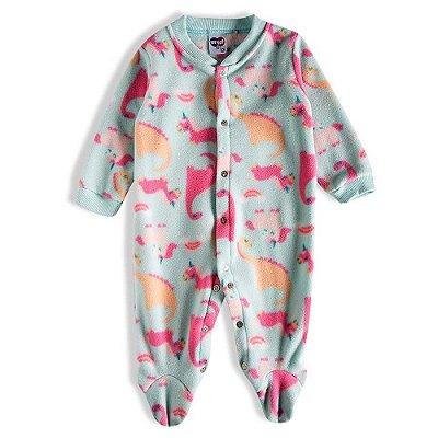 Pijama Macacão Soft Kids Antiderrapante - Magic Verde - Tiptop