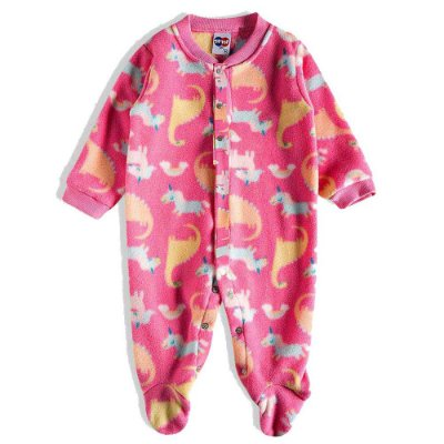 Pijama Macacão Soft Kids Antiderrapante - Magic Rosa - Tiptop