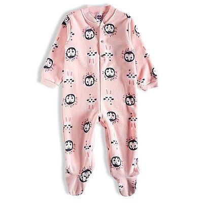 Pijama Macacão Soft Kids Antiderrapante - Dream Rosa - Tiptop