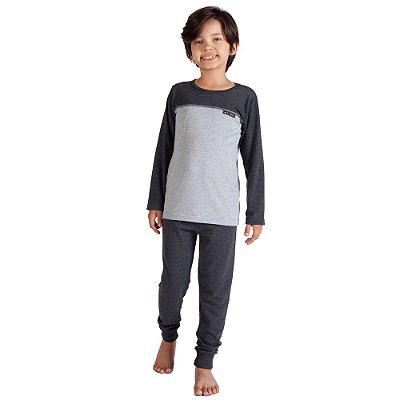 Pijama Infantil Manga Longa Recorte - 10 a 14 anos - Toque Sleepwear