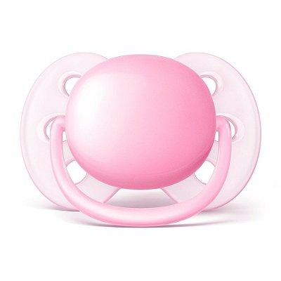 Chupeta Ultra Soft - 0 à 6 Meses - Rosa - Philips Avent