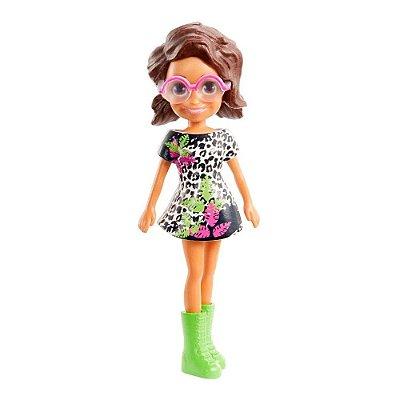 Polly Pocket - Shani - Vestido Preto/Branco - Mattel