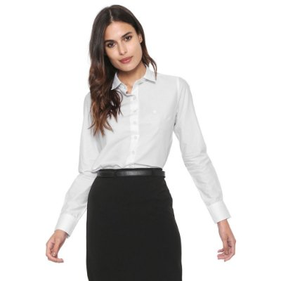 Camisa Manga Longa Branca - Dudalina