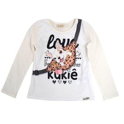 Blusa com Amarrador de Cabelo - Le Petit Kukiê