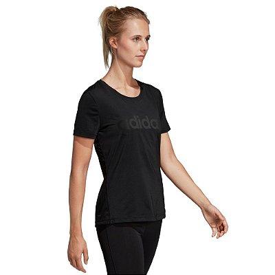 Camiseta Feminina D2M Logo Preto - Adidas