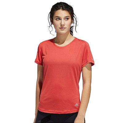 Camiseta Feminina Run It Tee Vermelho - Adidas