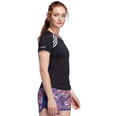 Camiseta Feminina Run It Tee 3S Preto - Adidas
