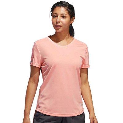 Camiseta Feminina Run It Tee Rosê - Adidas