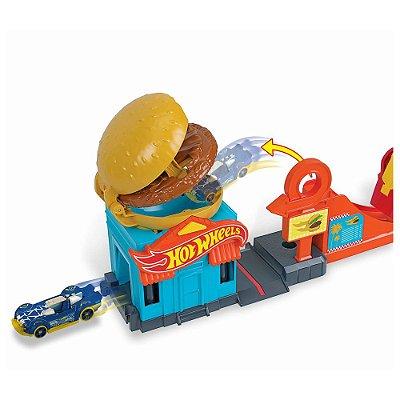 Conjunto Hot Wheels City - Loja de Hambúrger - Mattel