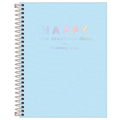 Agenda Planner Happy 2021 - Azul  - Tilibra