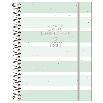 Agenda Planner Bright ideas 2021 - Verde Listrada - Tilibra