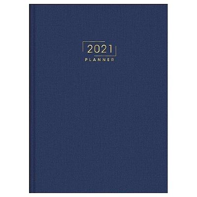 Agenda Planner Costurada Executivo Lume 2021 - Azul - Tilibra