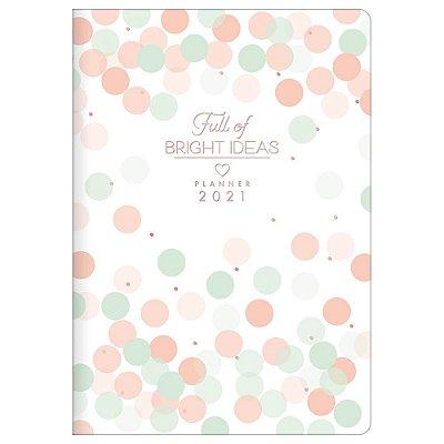 Agenda Planner Soho 2021 - Bright Ideas - Bolinhas Coloridas - Tilibra