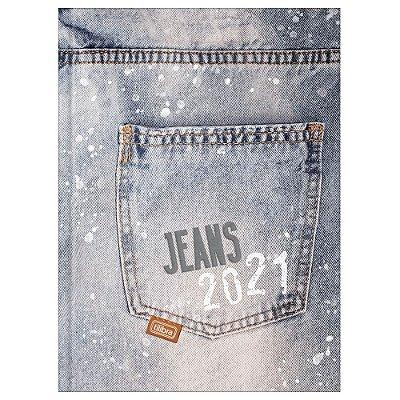 Agenda Diária Costurada Jeans 2021 - Estonado - Tilibra
