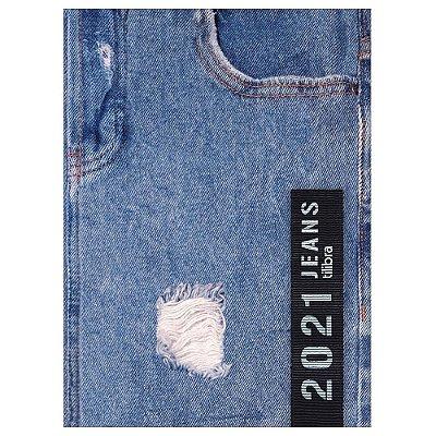 Agenda Diária Costurada Jeans 2021 - Rasgado - Tilibra