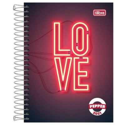 Agenda Diária Pepper 2021 - Love - Tilibra