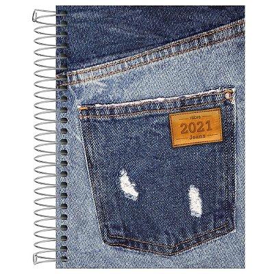Agenda Diária Jeans 2021 - Bolso Rasgado - Tilibra