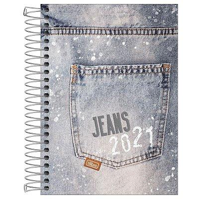 Agenda Diária Jeans 2021 - Bolso Estonado - Tilibra