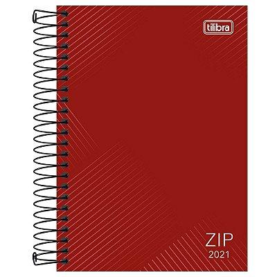 Agenda Diária Zip 2021 - Vermelho - Tilibra
