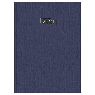 Agenda Diária Costurada Executivo Lume 2021 - Azul - Tilibra