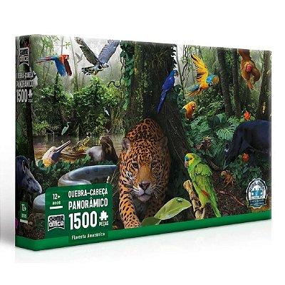 Quebra Cabeça Panorâmico Floresta Amazônica - 1500 peças - Toyster