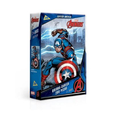 Quebra-Cabeça Avengers - Capitão América 200 peças - Toyster