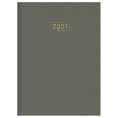 Agenda Diária Costurada Executivo Lume 2021 - Cinza - Tilibra