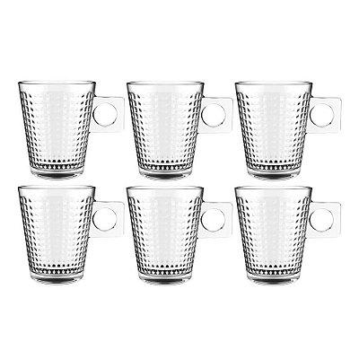Jogo de Xícaras de Café - Coffe Time Pixel - 6 Peças 80ml - Full Fit